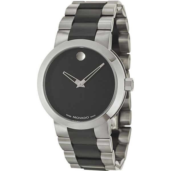 Movado Men's 606373 Verto Watch ($792) ❤ liked on Polyvore featuring men's fashion, men's jewelry, men's watches, black, mens watches, movado mens watches, mens stainless steel watches, mens watches jewelry and mens black face watches
