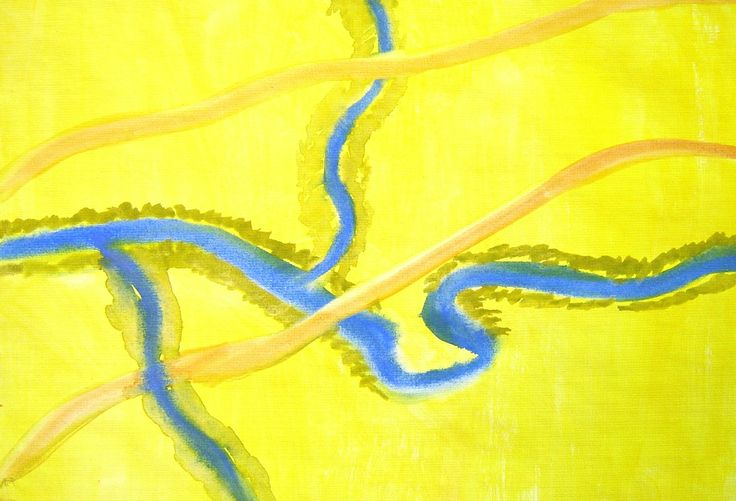Waldorf ~ 4th grade ~ Local Geography ~ Local Water Ways ~ watercolor painting