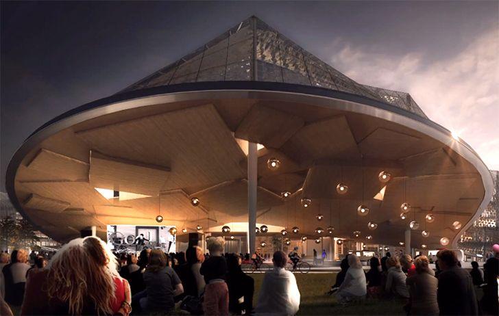 video googles new california headquarters is a greenhouse utopia by big and heatherwick greenhouses silicon valley california and california big heatherwick futuristic google hq