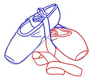 How to Draw Ballet Shoes