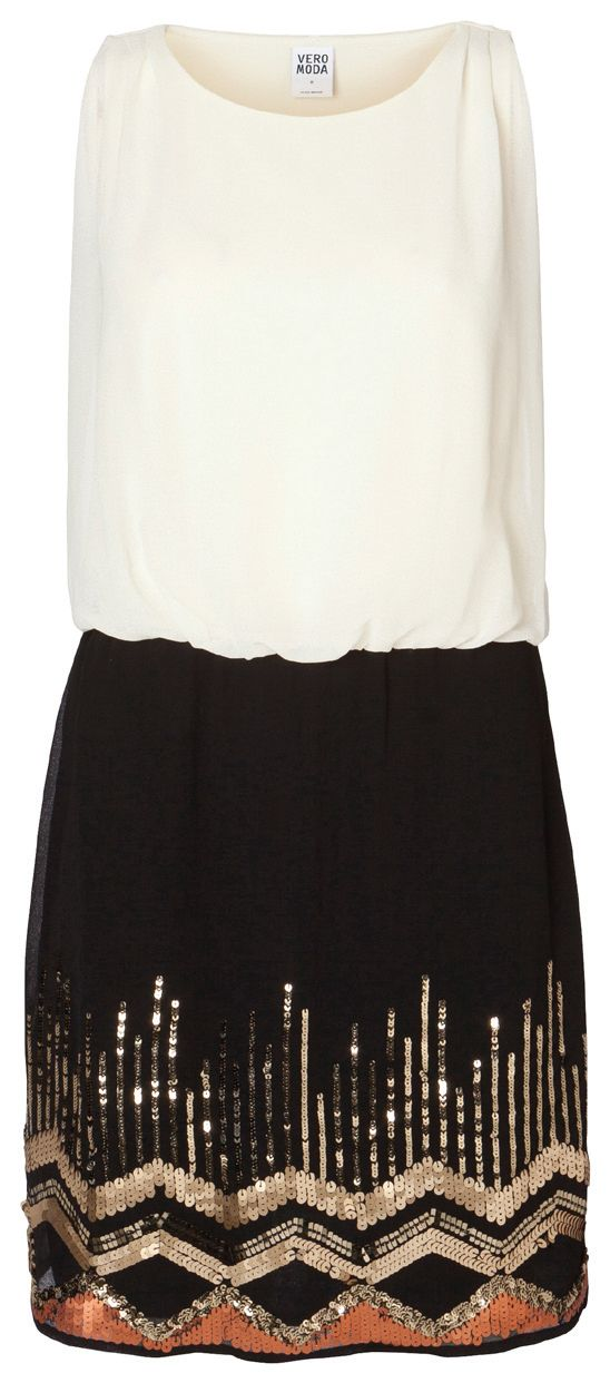 B&W Sequin Party Dress - Holiday Countdown #PINtoWIN