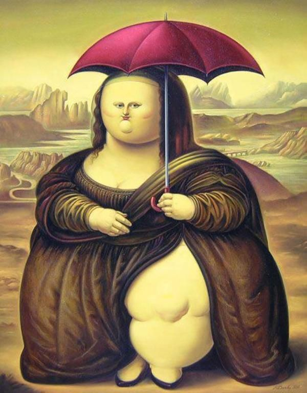 La Gioconda del paraguas [Rogelio Barillas] (Gioconda / Mona Lisa)