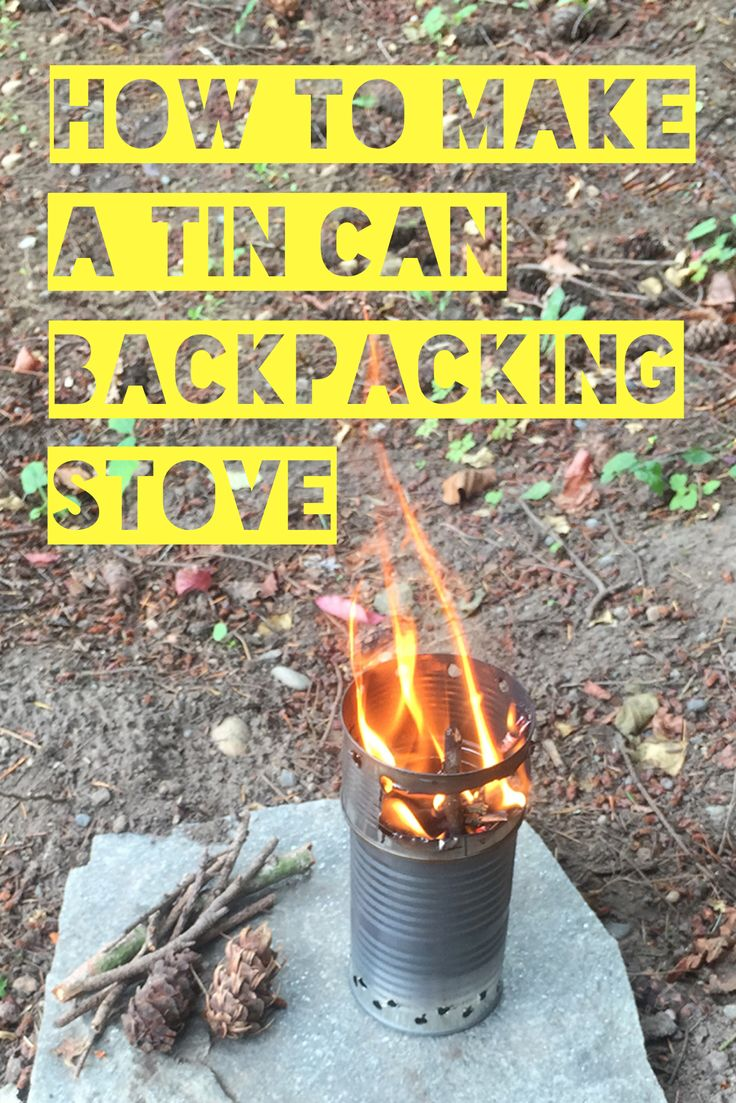 This ultra light backpacking stove is easy to make and burn twigs and other materials that can be found at any campsite.