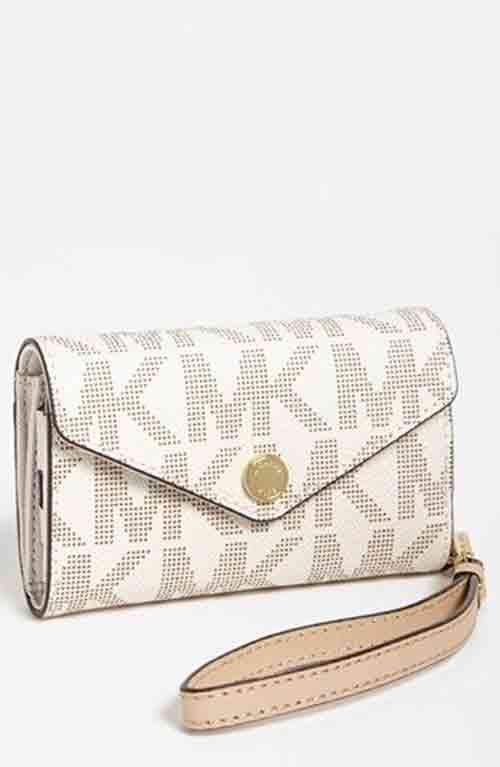 MICHAEL Michael Kors iPhone 5 Wristlet available at WOW! Share with  you\u2026ahah michael kors