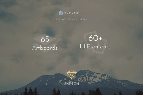Blueprint - UI Template for Sketch by Themmed on Creative Market