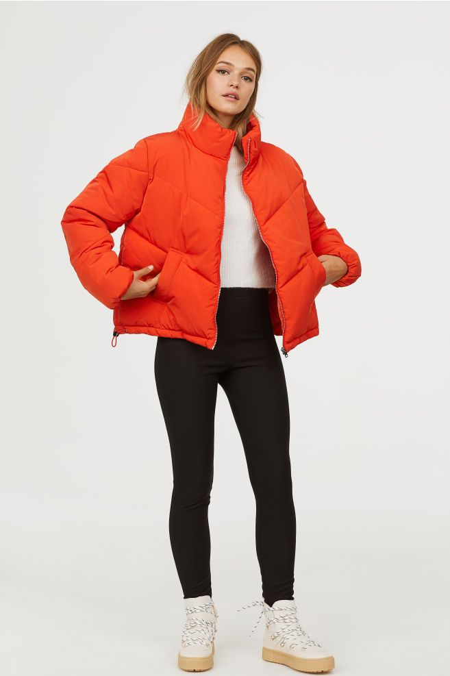 0df2046cd Padded Jacket | Outfits ideas | Padded jacket, Jackets, Orange jacket