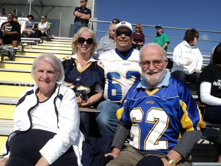 Dedicated Lancer Football supporters - the Myall Family!