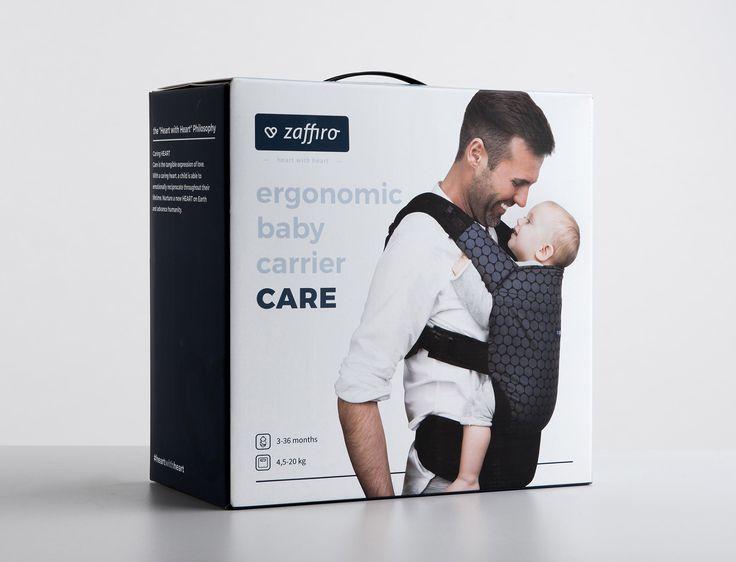 Zaffiro baby carrier packaging #branding #design  #packaging #pleo
