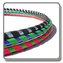 """SuperFly Hula Hoop    Price: $29.99     The SuperFly BodyHoop is our small, light weight hoop at about 1 pound, and is available in one small size, ideal for the Intermediate to Advanced hooper or children over 4 years old.     Available in one size at 35-36"""" diameter."""