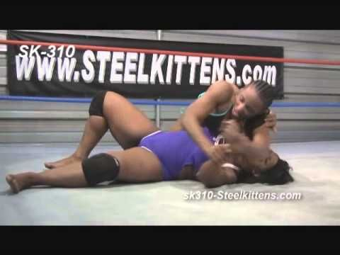 Female Wrestling, Hot Womens Wrestling.  African American Women Wrestling | Competitive Wrestling. Female Wrestlers Afrika vs. Raquel D. See lots of Great Women's Wrestling Videos at http://www.SteelKittens.com