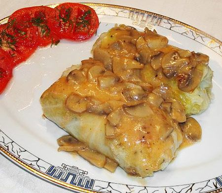 A classic recipe for Polish Golabki (Cabbage Rolls) in Mushroom Sauce ♥ So Much Begins with a Meal...