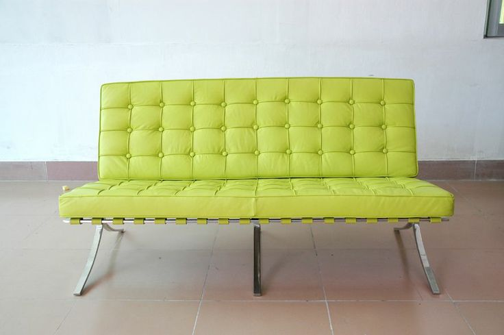 Lime green leather furniture lime green leather sofa for Lime green sofa