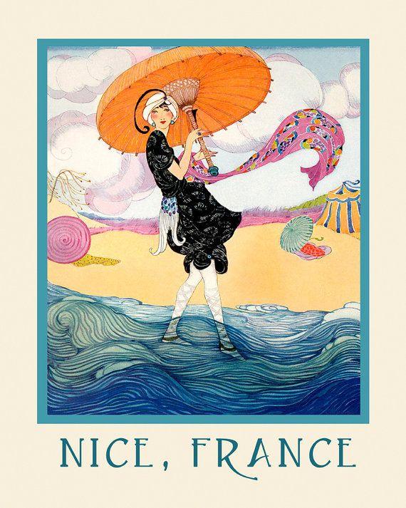 Frankrijk Fashion Lady mooi strand Frankrijk Franse reizen
