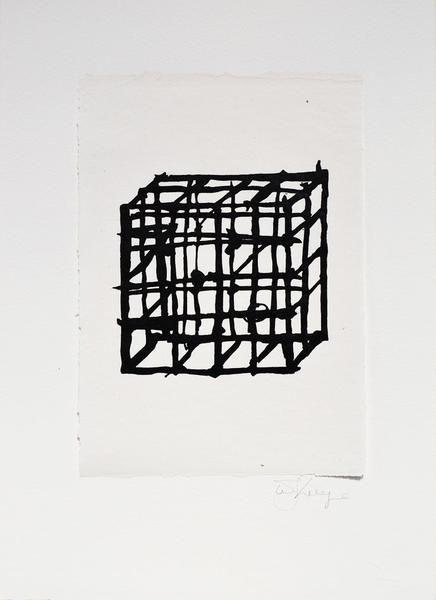 William Kentridge, Rebus Cage, 2014 -