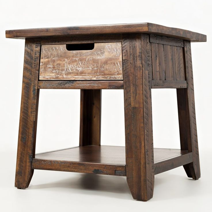 Jofran Painted Canyon End Table | Weekends Only Furniture and Mattress