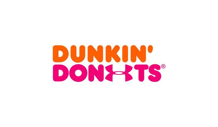 Sportswear x Fast Food logo design mashup: Dunkin Donuts x Under Armour #logo #mcdonalds #nike #adidas #fila #burgerking #dunkindonuts #kfc #champion #underarmour #subway #puma #jordan #pizzahut #dominos #fila#underarmour