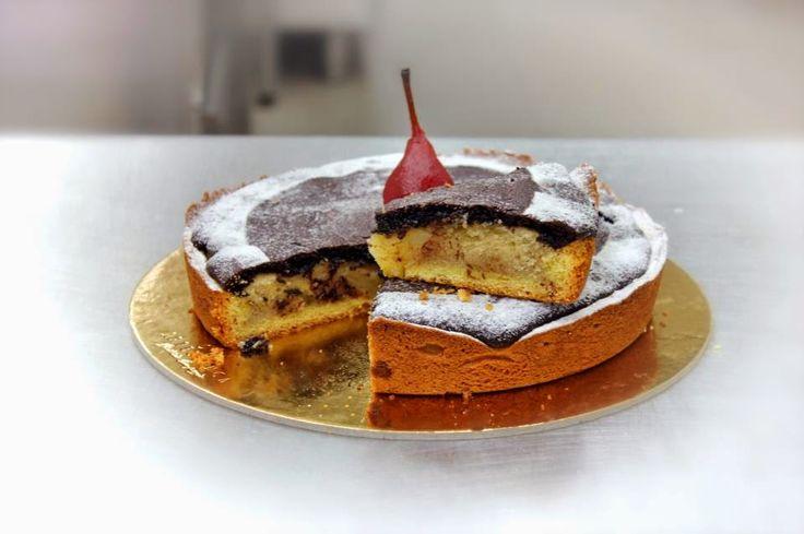 ricetta: Torta pere e cioccolato con crema frangipane