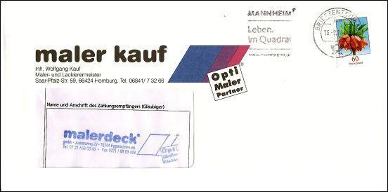Ein Lob für die Deutsche Post AG. Trotz klitzekleiner Stempelschrift, erreichte uns dieser Brief.