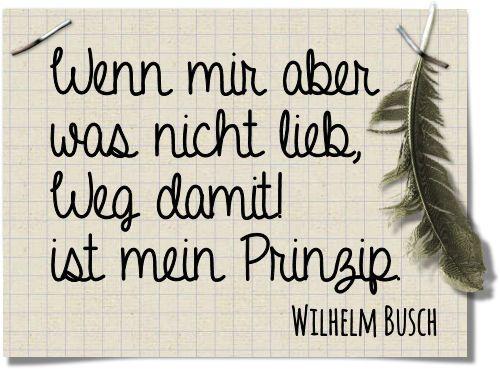 Die Rabenfrau: Zitat Wilhelm Busch über Wegwerfen