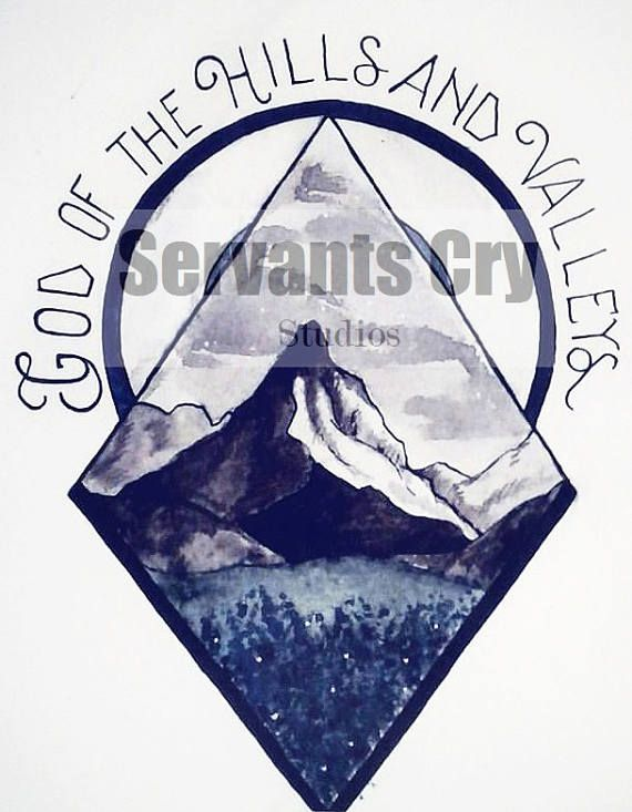 Looking for a tattoo with meaning? Maybe this one is the one youve been looking for! Based off the newest Tauren Wells song, this lovely tattoo design features a mountain with blue flower covered valley in the foreground. Tattoo is both black and white and color, keeping color minimal for cost-effectiveness. If you purchase this tattoo, you receive a digital copy of the tattoo design that is a high resolution image that you can print and take to your tattoo artist, AS WELL AS two different…