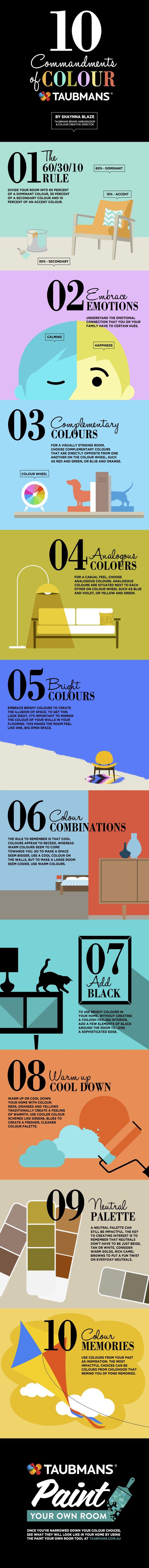 Taubmans 10 Commandments of Colour Infographic