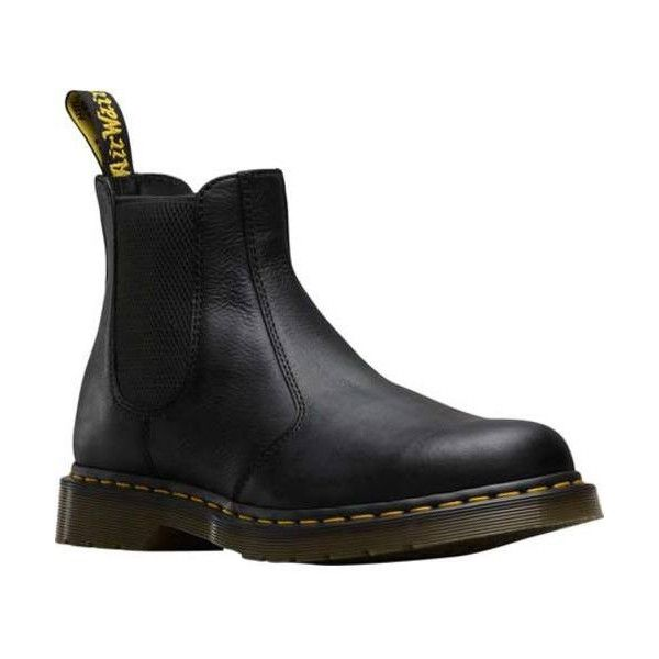 Dr. Martens 2976 Chelsea Boot ($145) ❤ liked on Polyvore featuring shoes, boots, ankle booties, suede shoes, chelsea bootie, leather ankle booties, leather booties, black ankle booties and chelsea boots