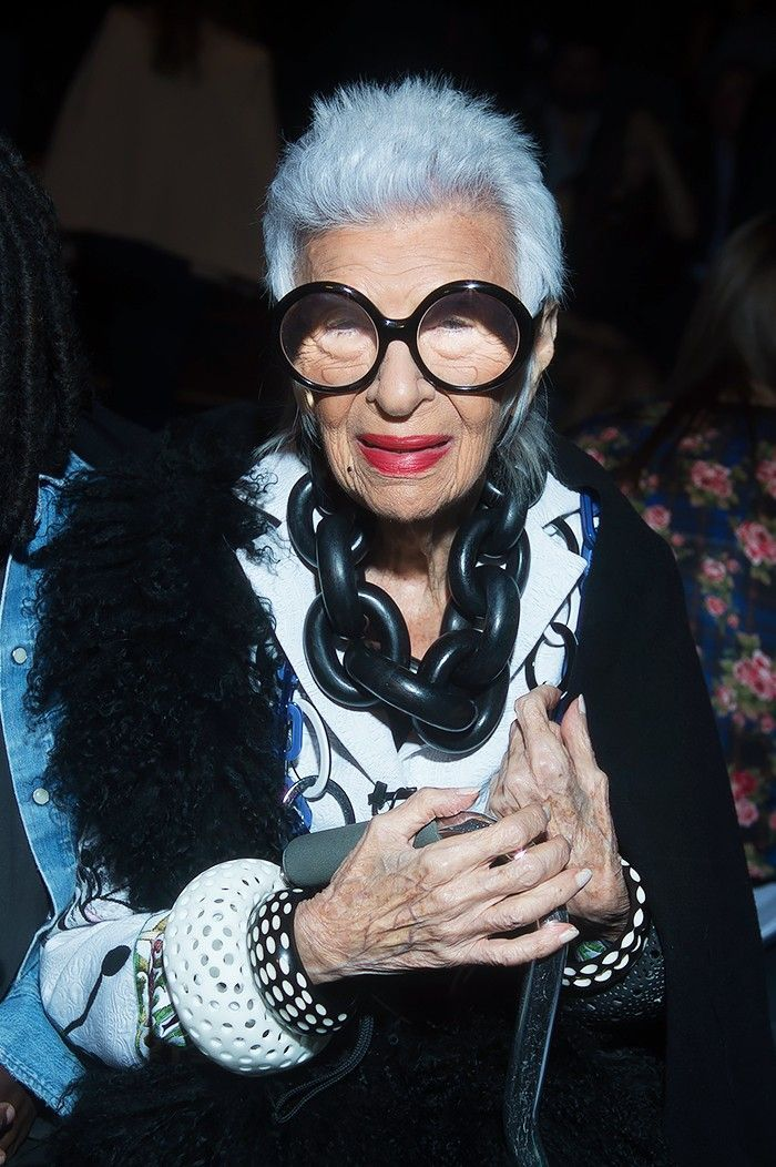 10 Holiday Party Accessory Ideas From Iris Apfel via @WhoWhatWearUK