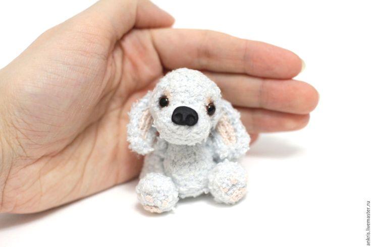 Купить Голубой Щенок - вязаная игрушка амигуруми - голубой, щенок, собачка…