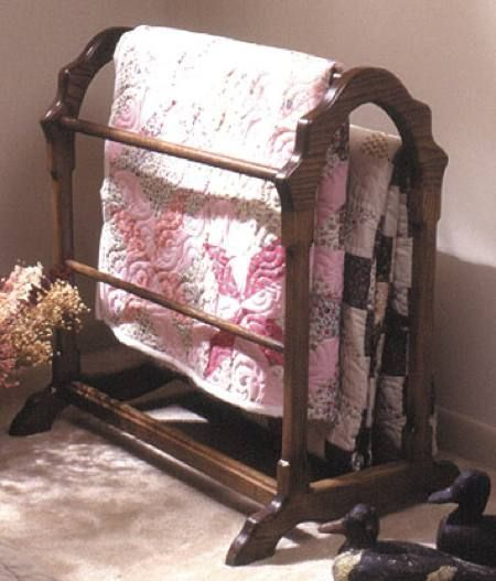 Country Quilt Rack Woodworking Plan