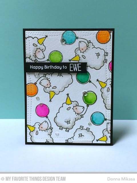 Ewe Are the Best, Wonky Stitched Rectangle STAX Die-namcis - Donna Mikasa  #mftstamps