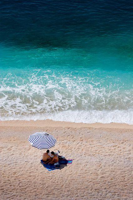 Perfect turquoise waters on Kaputaş Beach, near Kalkan
