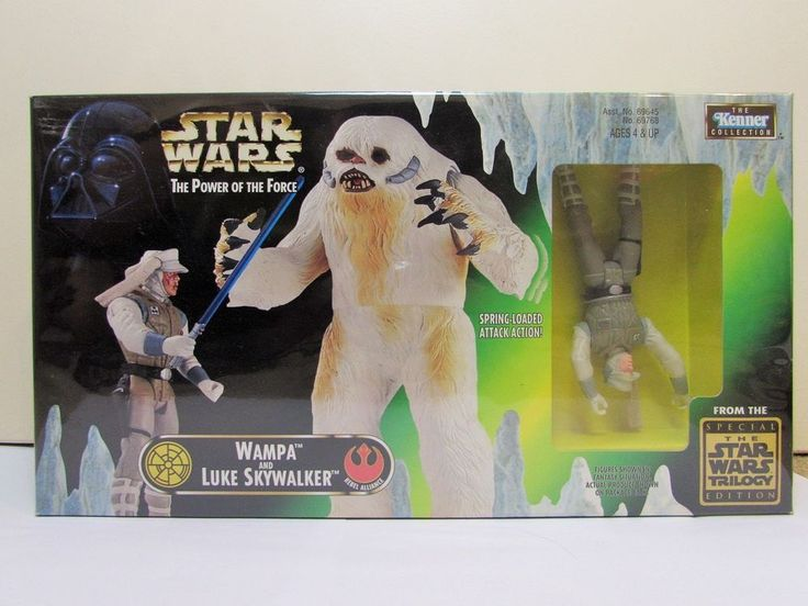 Star Wars Wampa and Luke Skywalker Toy Action Figure Kenner Collection MIB 1998