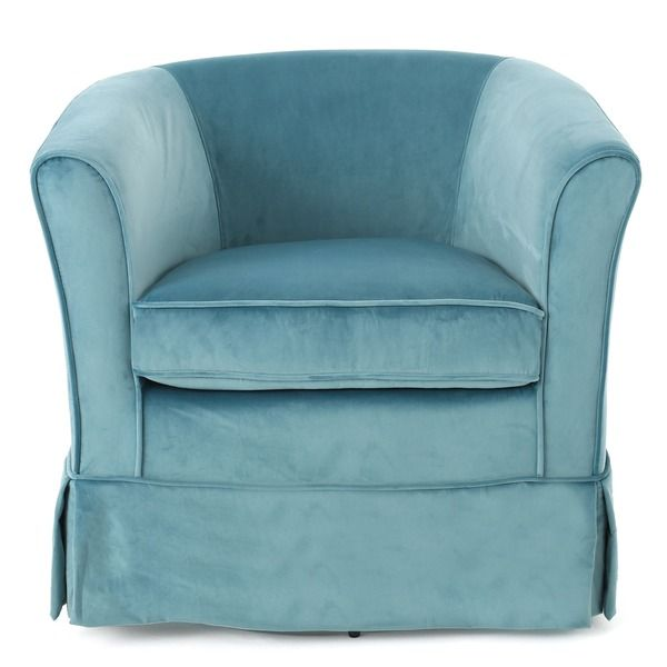 Enjoy the Christopher Knight Home Cecilia velvet swivel club chair in any room of your home. Not only does this chair conveniently swivel, but with its plush cushion it is comfortable enough to fit al