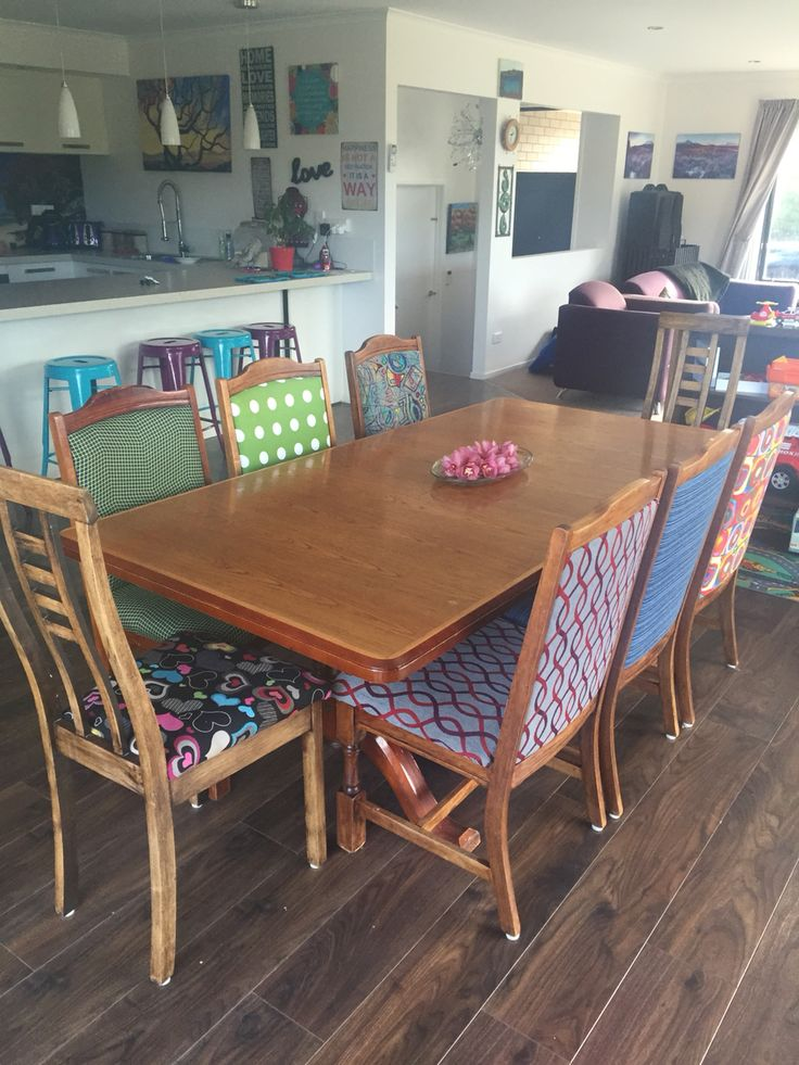 Restored dining table and chairs