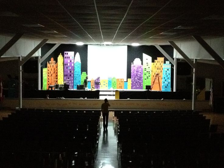 Cost Effective Stage Design for a Children's Event. Easy DIY. #kidmin