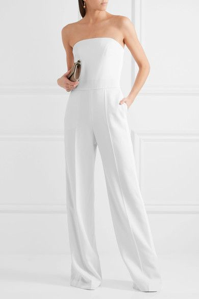 A chic alternative to evening dresses, Stella McCartney's jumpsuit epitomizes modern sophistication. It's expertly cut from ivory wool and has a close-fitting boned bodice that's designed to complement the wide-leg silhouette. Team yours with minimal jewelry and sandals.