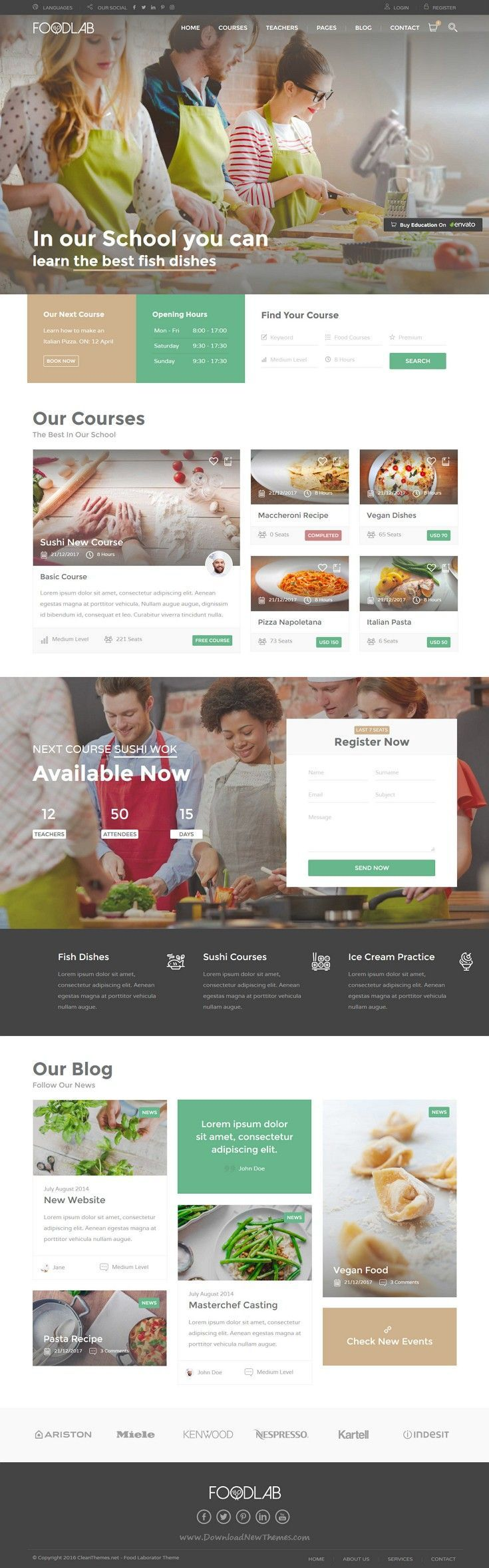 Education is excelent responsive HTML theme designed for schools that organize online courses and offer a complete e-leaning #education service #website. #food #hospitality Download Now!. If you're a user experience professional, listen to The UX Blog Podcast on iTunes.