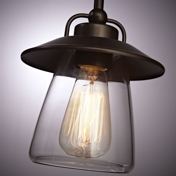 shop allen roth bristow mini pendant light with clear shade at loweu0027s canada find