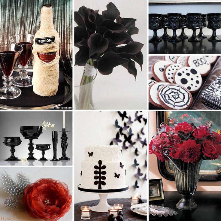 Black White Halloween Wedding Inspiration Ideas And Trends Part 98