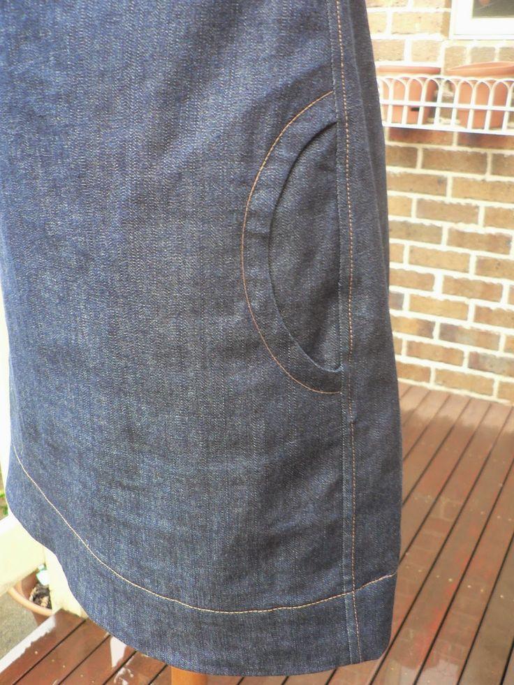 Circular pocket tutorial with french seams - including pattern! - Fabric Tragic