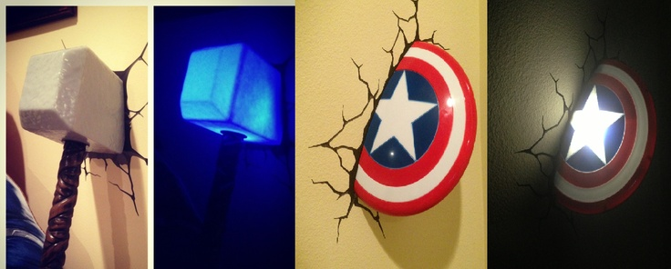 3d Wall Lights Target : 1000+ images about 3DlightFX 3D Superhero Deco Lights on Pinterest Thors hammer, Iron man and ...