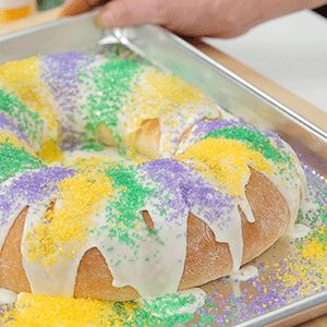 When it comes to king cake, our traditional recipe reigns supreme. Follow along as we show you how to make it step-by-step.  Get the King Cake recipe  See more Mardi Gras recipes
