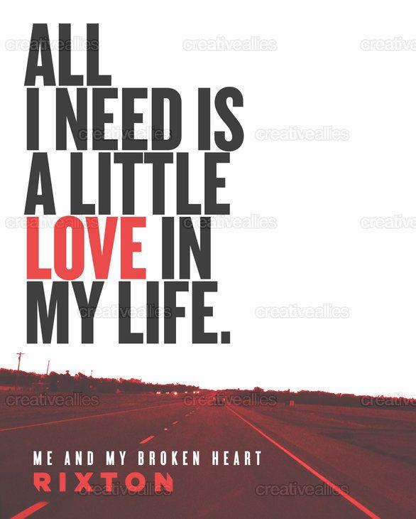 Rixton Me and my broken heart poster on creativeallies.com