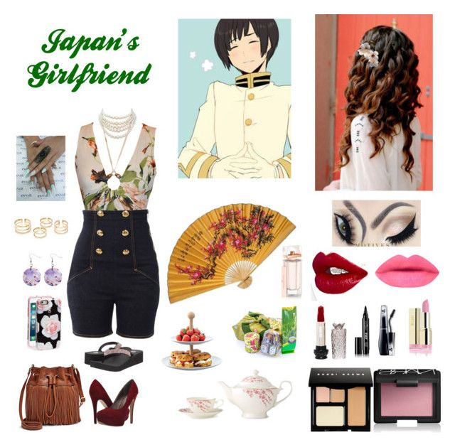 """Japan's Girlfriend"" by hetalia2013 ❤ liked on Polyvore featuring beauty, Roberto Cavalli, Love Moschino, Michael Antonio, FOSSIL, Speck, Anna Sui, Eyeko, Lancôme and Bobbi Brown Cosmetics"