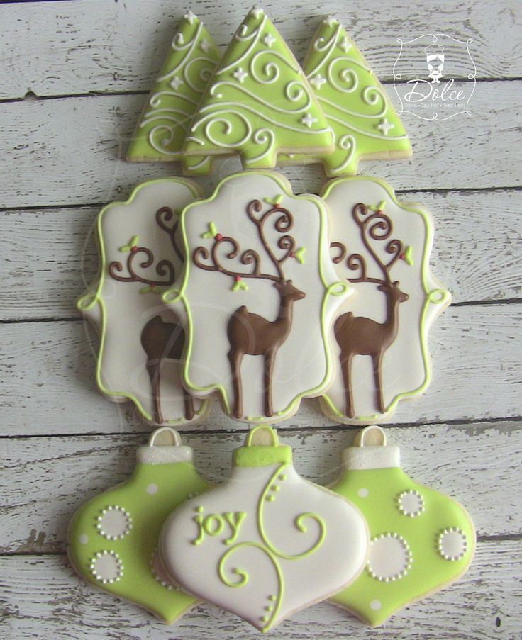 Pictures Of Decorated Christmas Sugar Cookies: 17 Best Images About Deer Cookies, Treats And Decor On