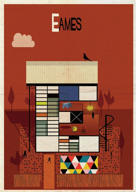 "Federico Babina creates ""Archibet"", an illustrated alphabet of architects!   Dashboard : Communication Graphique"