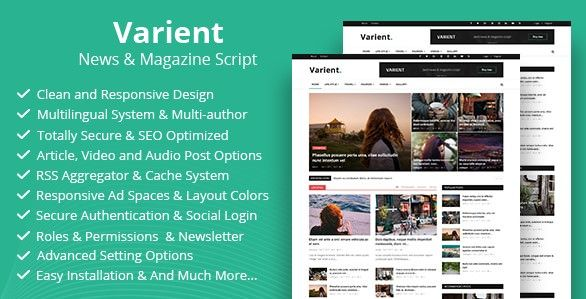 Varient V1 5 5 News Magazine Php Script Free Download Spiski Chteniya Skripty Upravlenie Proektami