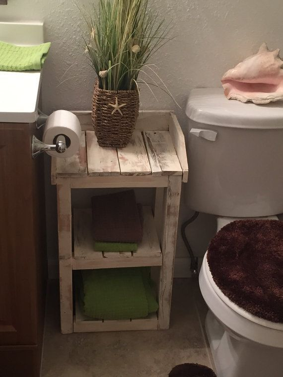 Beach Theme Bathroom Shelves for Storage by TheHarvestTrailJourn