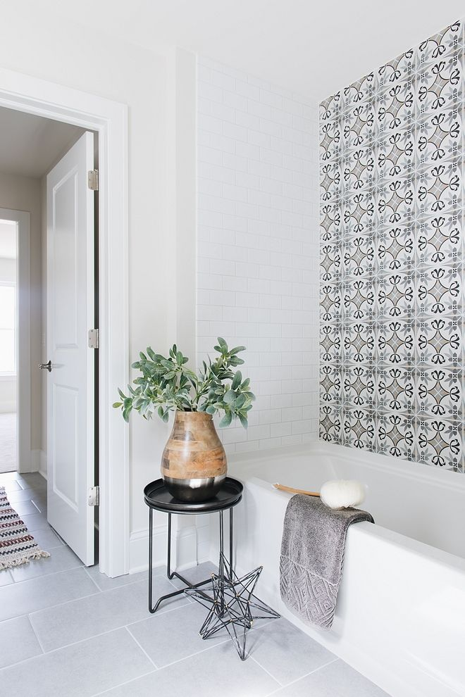 Affordable Bathroom Renovation Ideas Using Encaustic Cement Tiles As - Affordable encaustic tiles