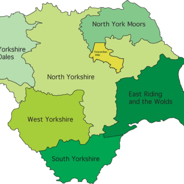 Yorkshire map